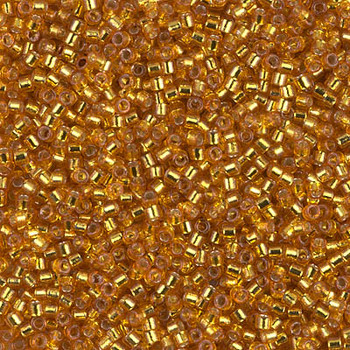 Delicas Size 11 Miyuki Seed Beads -- 2157 Duracoat Yellow Gold / Silver Lined