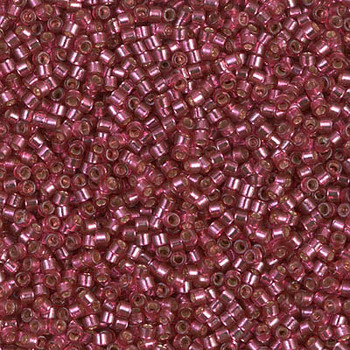 Delicas Size 11 Miyuki Seed Beads -- 2161 Duracoat Petunia / Silver Lined