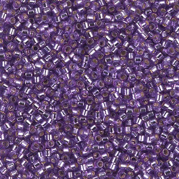 Delicas Size 11 Miyuki Seed Beads -- 2168 Duracoat Orchid / Silver Lined