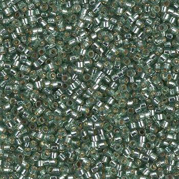 Delicas Size 11 Miyuki Seed Beads -- 2165 Duracoat Dark Seafoam / Silver Lined
