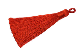 Coral Red 3 Inch Tassel