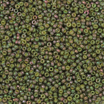Size 15 Miyuki Seed Beads -- 318Q Avocado Iris