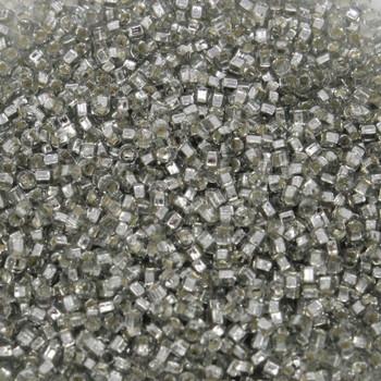 Size 15 Toho Seed Bead -- 21A Pale Grey / Silver Lined