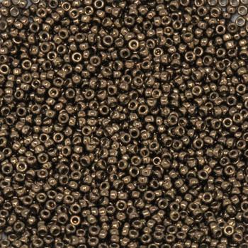 Size 15 Miyuki Seed Beads -- 457D Dark Bronze