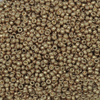 Size 15 Miyuki Seed Beads -- D4204 Duracoat Galvanized Gold