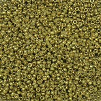 Size 15 Miyuki Seed Beads -- D4205 Duracoat Galvanized Zest