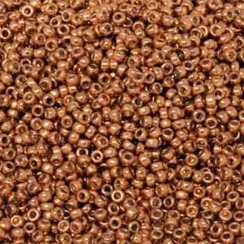 Size 15 Miyuki Seed Beads -- D4206 Duracoat Galvanized Copper