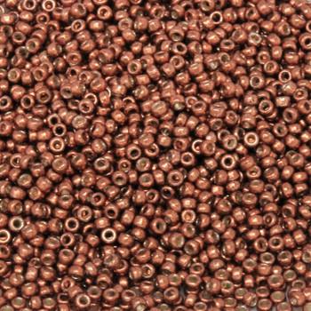 Size 15 Miyuki Seed Beads -- D4212 Duracoat Galvanized Dark Berry