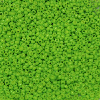 Size 15 Miyuki Seed Beads -- D4471 Duracoat Opaque Spring Green
