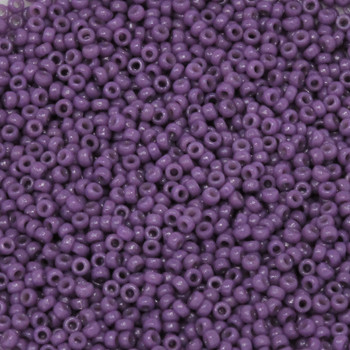 Size 15 Miyuki Seed Beads -- D4490 Duracoat Opaque African Violet