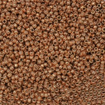 Size 15 Toho Seed Bead -- P481 Galvanized Rose Gold