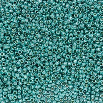 Size 15 Toho Seed Bead -- P492 Galvanized Turquoise