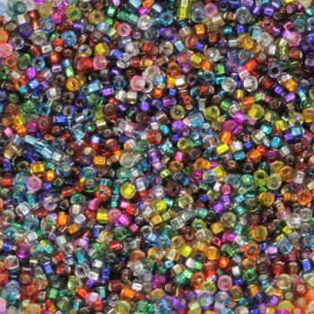 Size 15 Miyuki Seed Beads -- Silver Lined Mix
