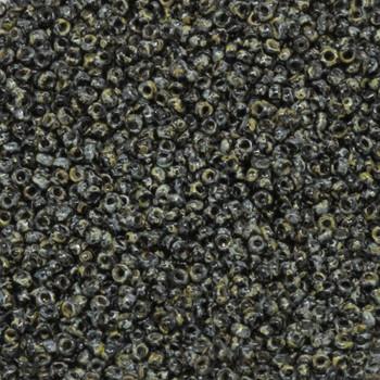 Size 15 Miyuki Seed Beads -- 4511 Picasso Black
