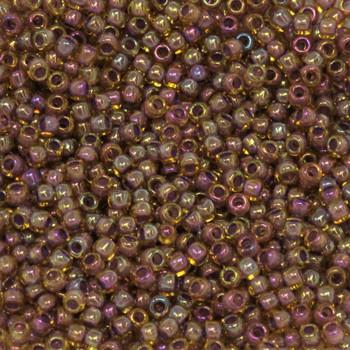 Size 11 Toho Seed Beads -- 389D Light Topaz AB / Lavender Lined