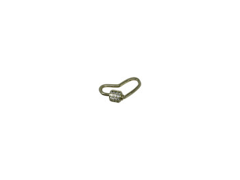 Gold Micro Pave Mini Heart Carabiner