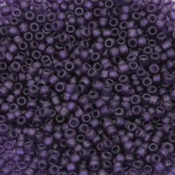 Size 11 Matsuno Seed Beads -- F323B Metallic Purple Frosted