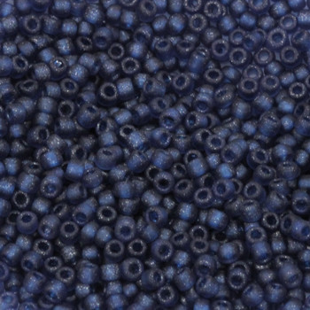 Size 11 Matsuno Seed Beads -- F323A Metallic Blue Frosted