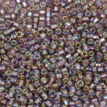 Size 11 Matsuno Seed Beads -- 640 Light Amethyst AB / Silver Lined