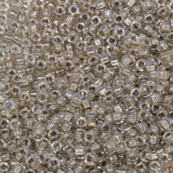 Size 11 Miyuki Seed Beads -- 703 Crystal / Sparkle Gold Lined