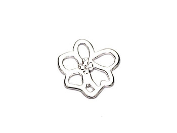 Single Sakura Flower - Sterling Silver