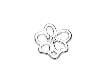 Single Sakura Flower - Sterling Silver
