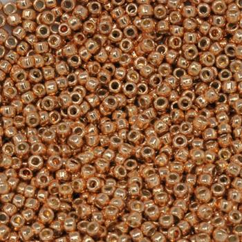 Size 11 Toho Seed Beads -- P481 Galvanized Rose Gold