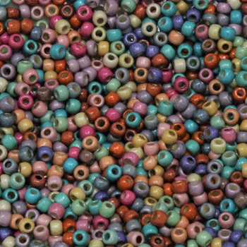Size 11 Miyuki Seed Beads -- Galvanized Funfetti Matte