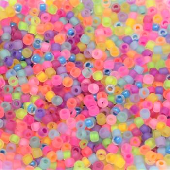 Size 11 Miyuki Seed Beads -- Neon Mix Matte