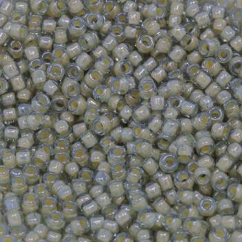 Size 8 Toho Seed Beads -- 329 Black Diamond / Beige Lined