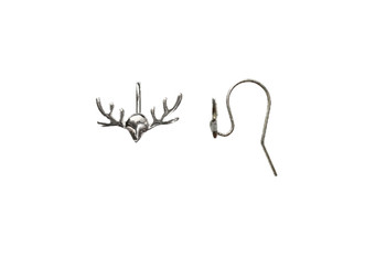 Sterling Silver Reindeer Antler Earring Wires - Sold as a Pair