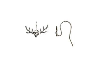 Sterling Silver Reindeer Antler Earring Wires - Sold as a Pair