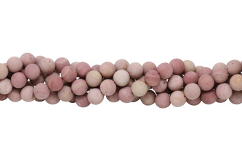 Rhodonite Matte 10mm Round