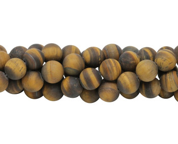Tiger Eye Matte 12mm Round