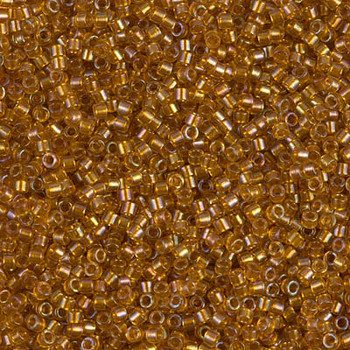 Delicas Size 11 Miyuki Seed Beads -- 065 Crystal AB / Topaz Lined