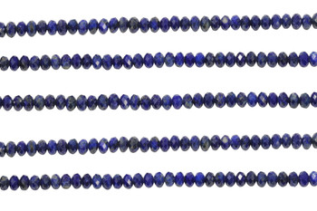 Natural Lapis Polished 2.5x4mm Faceted Rondel