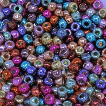 Size 6 Miyuki Seed Beads -- Galvanized Funfetti