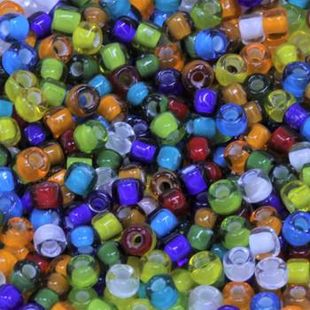 Size 6 Miyuki Seed Beads -- White Lined Mix