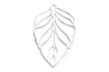 Large Leaf - Sterling Silver