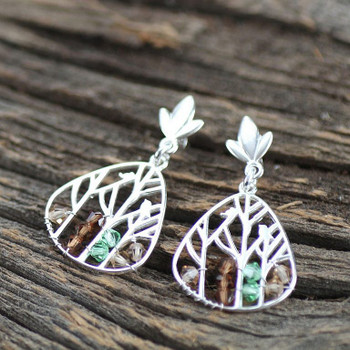 Woodland Drop - Sterling Silver