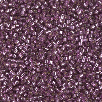 Delicas Size 11 Miyuki Seed Beads -- 2169 Duracoat Lilac / Silver Lined