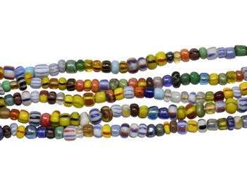 Gooseberry Glass Polished 3-4mm Semi Round - Mix