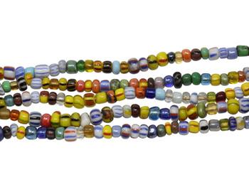 Gooseberry Glass Polished 3-4mm Semi Round - Mix