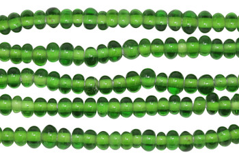 Ghana Glass Polished 6-7mm Spacer - Green