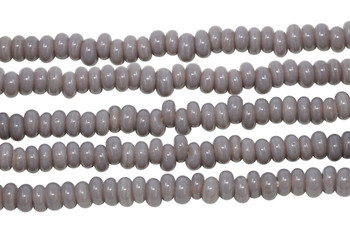 Ghana Glass Polished 6-7mm Spacer - Mauve