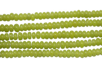Ghana Glass Polished 6-7mm Spacer - Lime