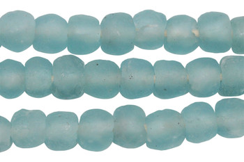 Recycled Bottle Glass 14mm Round - Aqua Sea