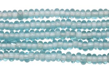 Ghana Glass Polished 6-7mm Spacer - Aqua