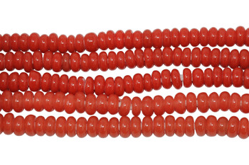 Ghana Glass Polished 6-7mm Spacer - Red