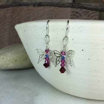 Sterling Silver Leaf Earring Wires - Sold as a Pair